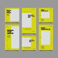 nueva colección de publicaciones de redes sociales de venta de moda vector