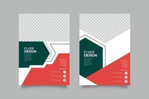 Modern geometric annual business flyer template vector