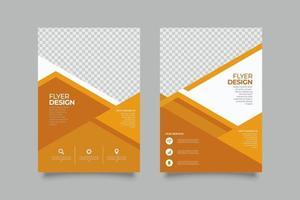 Plantilla de volante de marketing empresarial geométrico naranja moderno vector