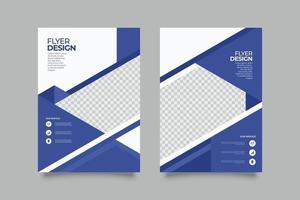 Modern abstract purple geometric business flyer template vector