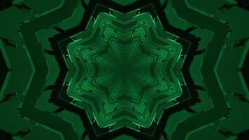 Ilustración 3D de túnel móvil con paredes geométricas. video