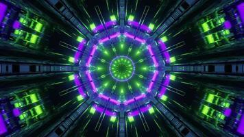 lumières brillantes d & # 39; illustration 3d en mouvement video