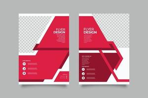 Modern abstract geometric business flyer template