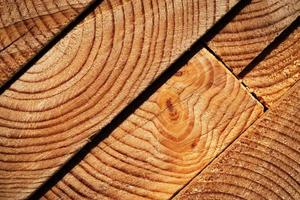 Detail of wooden board ends photo