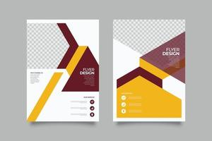 Flat yellow geometric flyer bank promotion template vector