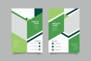 Green marketing flyer template vector