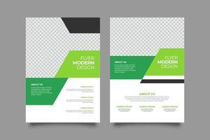 Marketing social media green post template