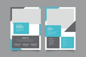 folleto geométrico azul moderno plano plantillas de atención médica médica vector