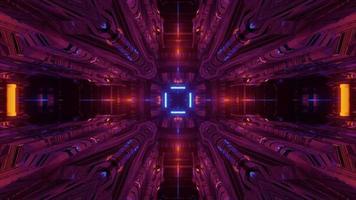 Futuristic Lights Illuminating on 3d Illustration video