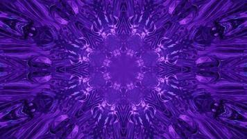 mandala abstrata ilustração 3d de padrões esféricos azuis video