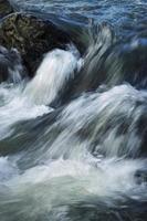Detail of wild rapid water photo