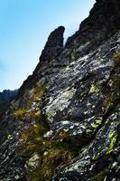 Detail of a mountain rock photo