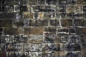 Detalle de muro con bloques de piedra foto