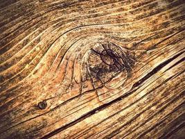 Detalle de madera vieja con nudo foto