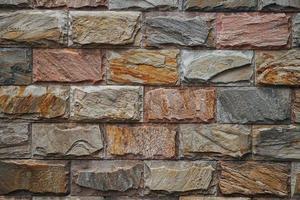 Fondo de textura de pared de piedra marrón foto