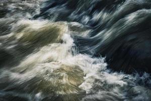 Dark ripples on a wild river photo