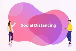 distanciamiento social para evitar covid-19 vector
