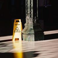 Caution signal on the floor
