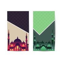Ramadan Kareem, Islamic Art Style Background with Border Frame and Mosque, Ramadan Mubarak Symbol. islamic background banner vector