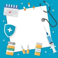 Ilustración de vector de fondo de vacuna