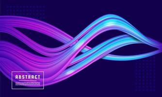 Neon glowing wave, magic energy and light motion background, Color flow vector
