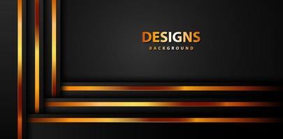 Modern Luxury Gold banner, abstract background board for text and message design vector