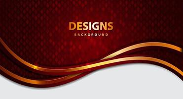 Modern Luxury Gold Flow background board for text and message design vector