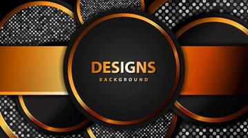 Modern Luxury Gold banner with glitter, abstract Circle gold background board for text and message design vector