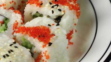 Macro View of Japanese Sushi