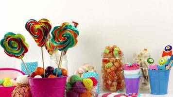 Lots of Different Colorful Sugarly Sweet Candies