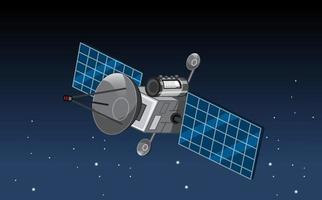 A satellite in outer space vector