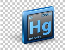 elemento químico mercurio vector