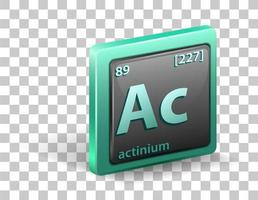 Actiniumchemical isolated element vector