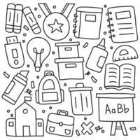 Doodle Set of School Symbols vector