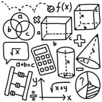 Mathematics Hand Draw Doodle Pack vector