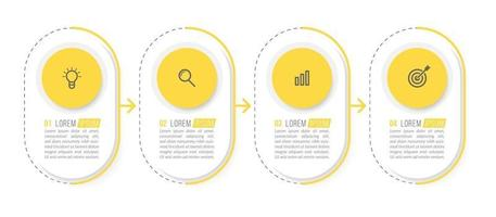Minimal Infographic Design With Four Icons or Steps
