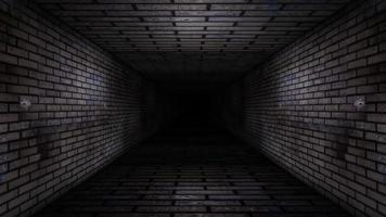 corredor de parede de tijolo abstrato