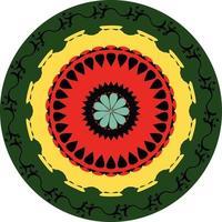 Geometric Circular Mandala Shape Vector