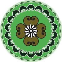 Beautiful Circular Rangoli  Vector