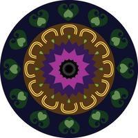 Abstract Circle Chakra Vector