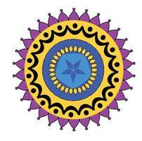 Simple Rangoli Art design vector