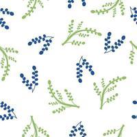Vines and twigs tropical seasonal pattern vector