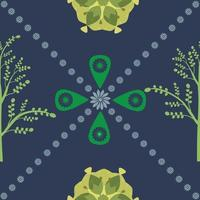 Abstract Organic Plant Seamless Pattern