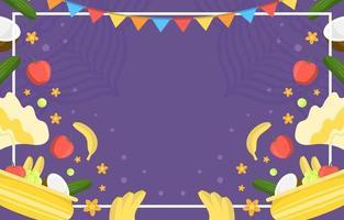 Flat Vishu Festivity Background vector