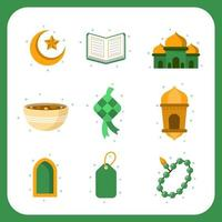 Eid Season Greetings Icon Collection vector