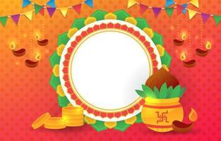 Akshaya Tritiya Celebration Background vector