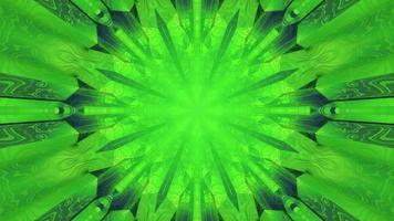 Ilustração 3 d do fundo verde do caleidoscópio tribal video