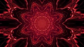 Ilustração 3 d de movimento fractal flor em túnel escuro video