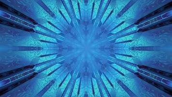 padrão de caleidoscópio azul em ilustração 3 d video