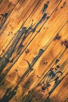 tablero de madera vieja tratada foto
